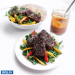 Chia-Crusted Tofu with Sweet & Spicy Peanut Sauce
