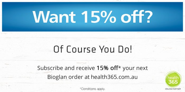 Receive 15 percent off Bioglan Products
